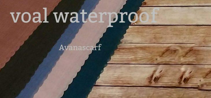 Segi Empat waterproof Voal Water Splash Rp. 100.000