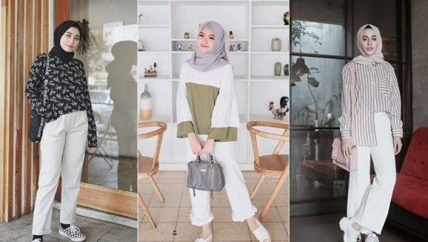 Berani Tampil Stunning Pakai Celana Putih Cocok untuk Hijaber