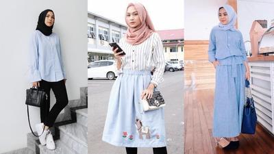 Tampil Menawan Hanya dengan Mix and Match Hijab dan Kemeja