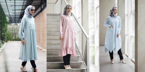 Tunik Berbahan Kaos Untuk Hijaber Yang Ingin Tampil Santai dan Modis