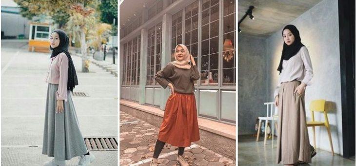 Alternatif Warna Rok Polos Selain Hitam Untuk Hijaber