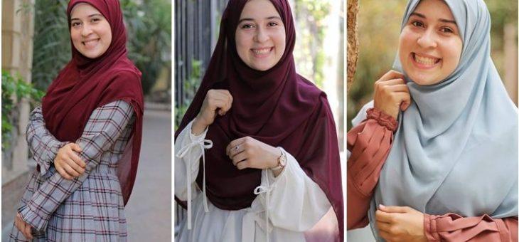 Tampil Santun Hanya dengan Hijab Menutup Dada Khas Ebtsam Alqadi, Simple dan Adem.