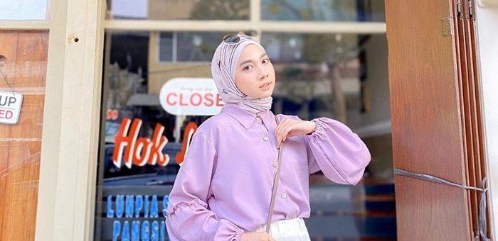 Tips Melakukan Mix and Match Hijab Pakai Outfit Warna Lilac