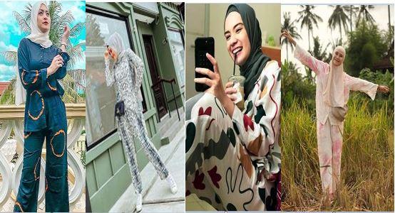 Model Gaya Hijab Simpel dan Kekinian Ala Selebriti dengan One Set