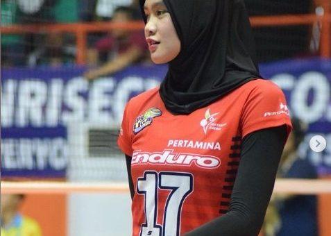 Foto Wilda Nurfadhilah Atlit Bola Voli, yang Cantik Istiqomah Berhijab