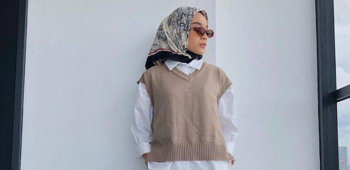 Rekomendasi Outfit Hijab Hanya dengan Vest, Bisa Untuk ke kantor dan Hangout