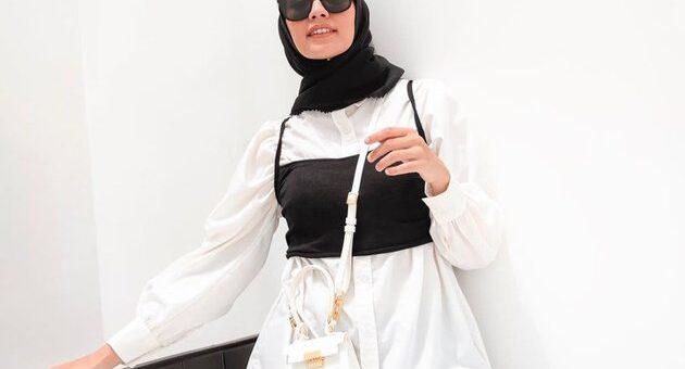 Mix and Match Outfit Hijab hanya dengan Crop Top, kereen Sekali!