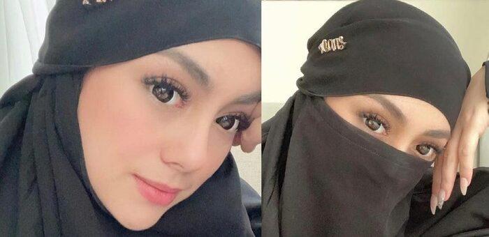 Dulu Pernah Bergaya Kenakan Hijab, Celine Evangelista Tampil Bercadar
