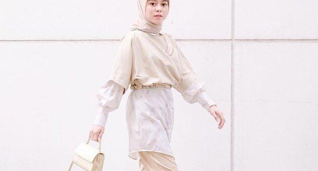 Busana Hijab OOTD Earth Tone Ala Lesty Kejora, Simpel dan Keren!