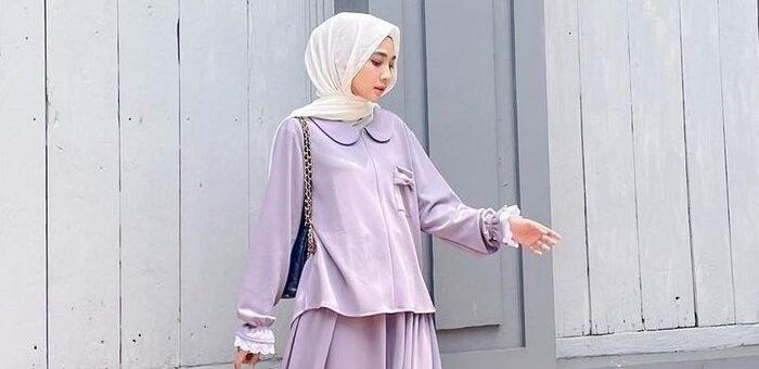 Mix and Match Kerah Peter Pan Collar Blouse untuk Hijabers